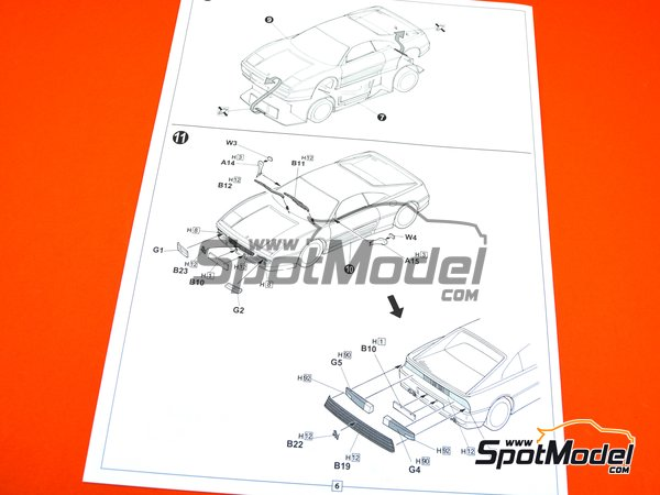 Image 12: Ferrari 348GTB | Model car kit in 1/24 scale manufactured by Fujimi (ref.FJ125916, also 125916, 12591 and RS-69)