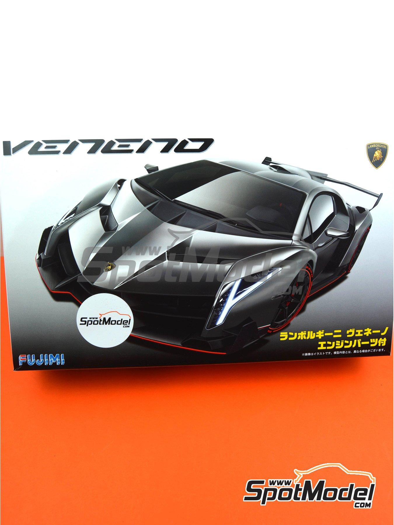 Lamborghini Veneno: advanced version (detailed engine) | Model car kit in 1/24 scale manufactured by Fujimi (ref.FJ125923, also 125923, FUJ125923 and RS-94) image