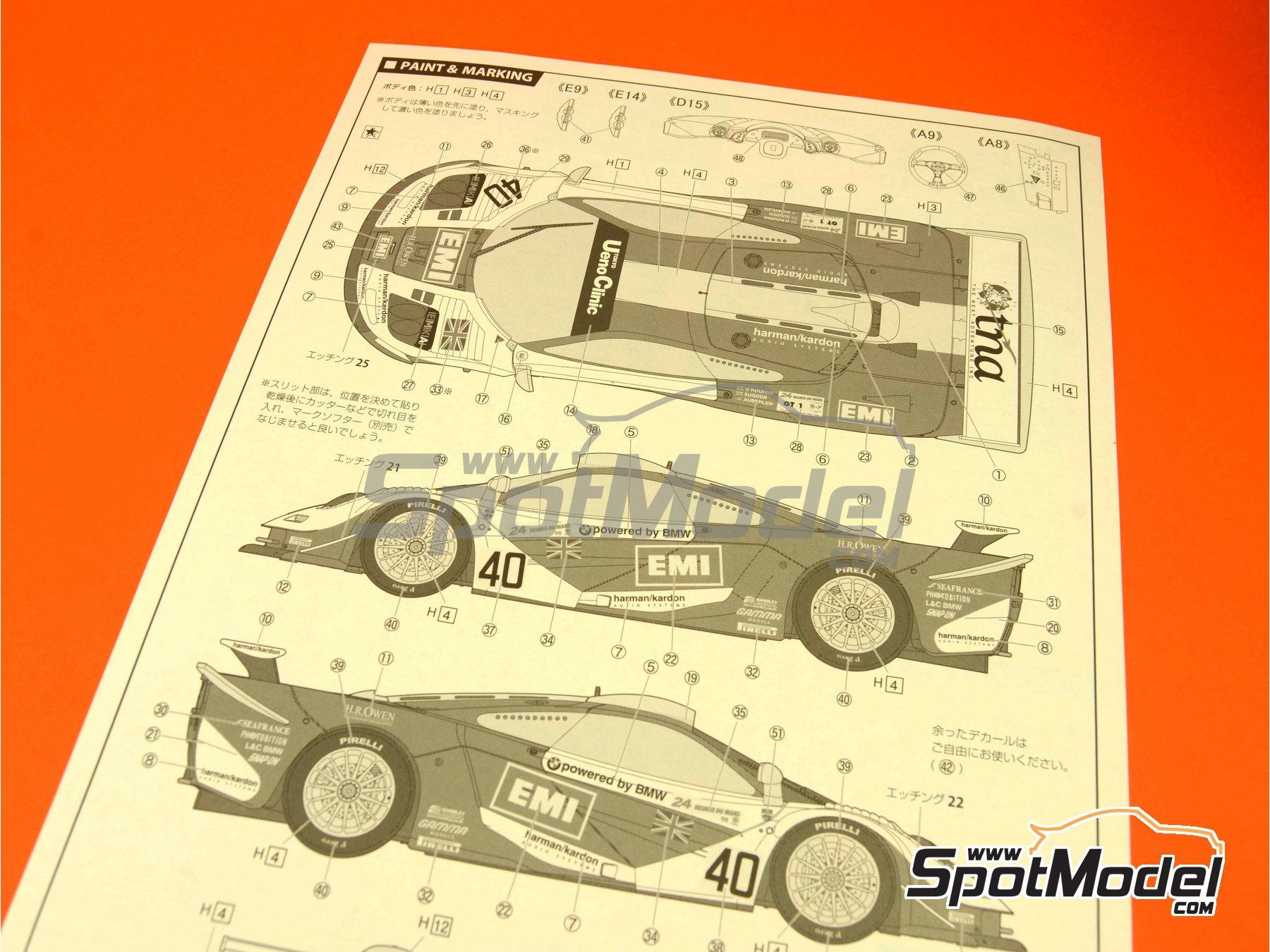 Image 1: McLaren F1 GTR Long Tail EMI - 24 Horas de Le Mans 1998 | Maqueta de coche en escala1/24 fabricado por Fujimi (ref.FJ12594)