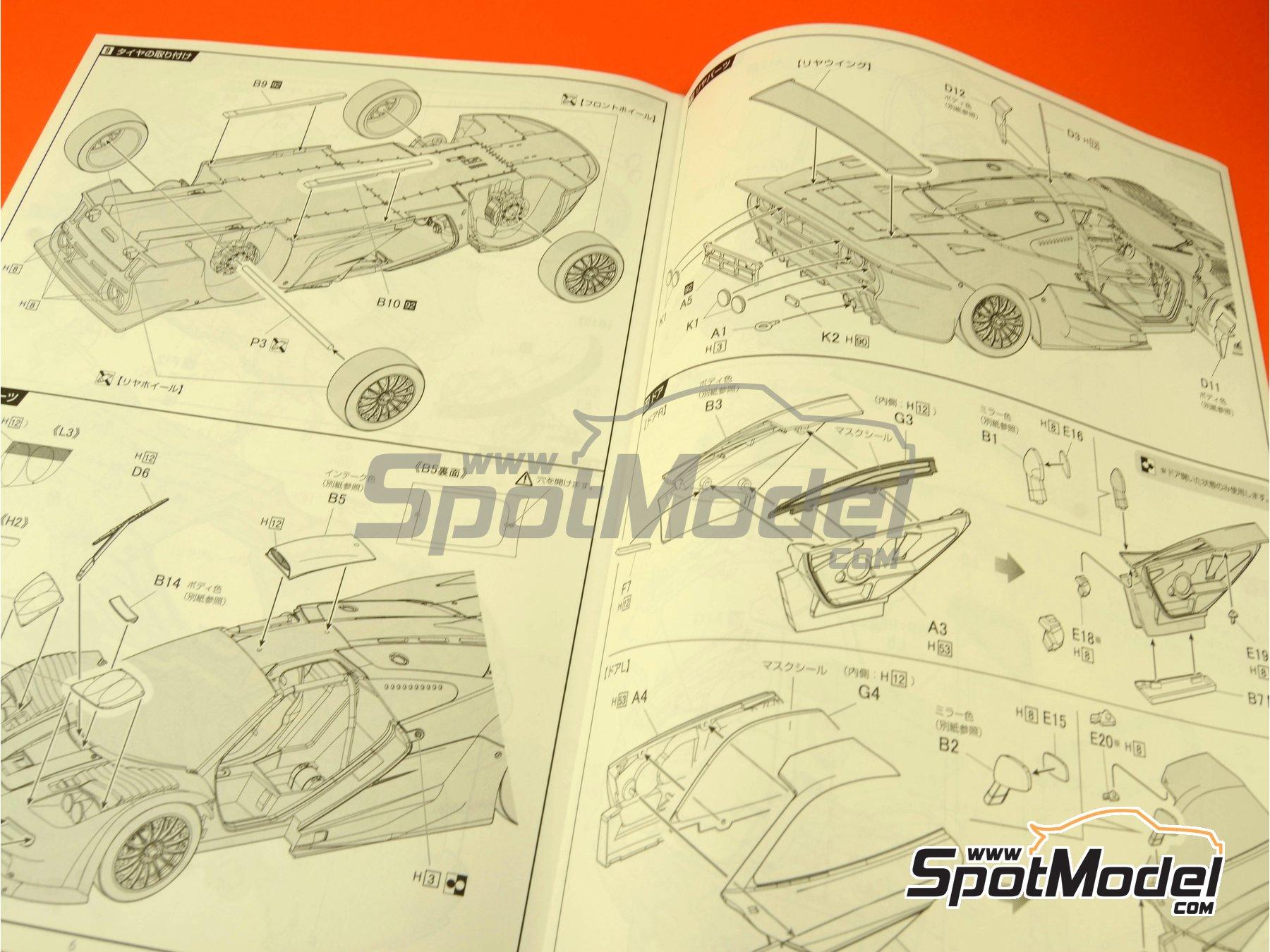 Image 4: McLaren F1 GTR Long Tail EMI - 24 Horas de Le Mans 1998 | Maqueta de coche en escala1/24 fabricado por Fujimi (ref.FJ12594)