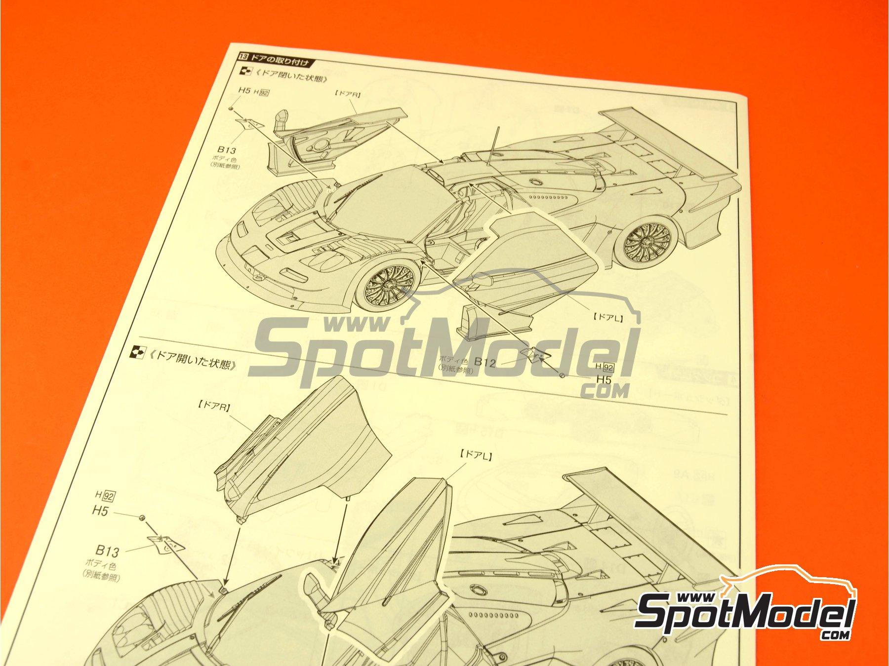 Image 5: McLaren F1 GTR Long Tail EMI - 24 Horas de Le Mans 1998 | Maqueta de coche en escala1/24 fabricado por Fujimi (ref.FJ12594)