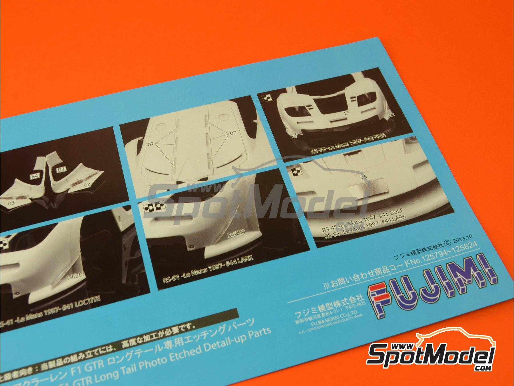 Image 17: McLaren F1 GTR Long Tail EMI - 24 Horas de Le Mans 1998 | Maqueta de coche en escala1/24 fabricado por Fujimi (ref.FJ12594)