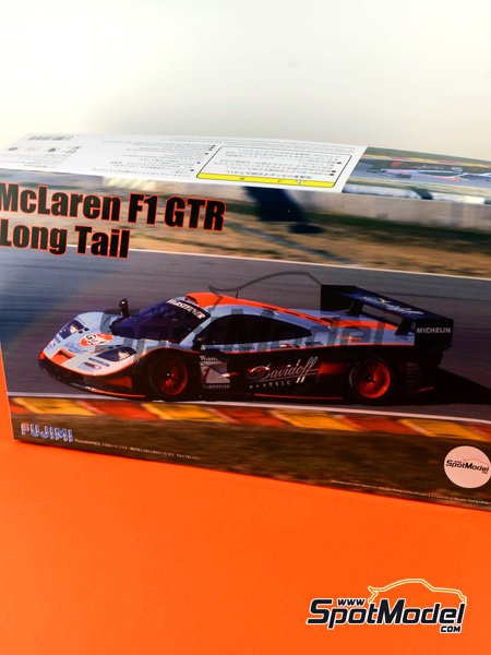McLaren F1 GTR Long Tail Gulf Davidoff - 24 Hours Le Mans 1997 | Model car kit in 1/24 scale manufactured by Fujimi (ref.FJ12595) image
