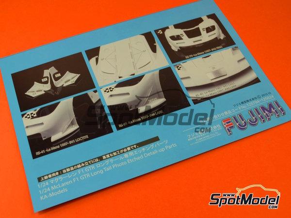 Image 12: McLaren F1 GTR Long Tail Gulf Davidoff - 24 Hours Le Mans 1997 | Model car kit in 1/24 scale manufactured by Fujimi (ref.FJ12595)