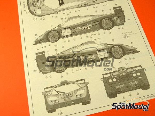 Image 14: McLaren F1 GTR Long Tail Gulf Davidoff - 24 Hours Le Mans 1997 | Model car kit in 1/24 scale manufactured by Fujimi (ref.FJ12595)