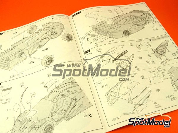 Image 16: McLaren F1 GTR Long Tail Gulf Davidoff - 24 Hours Le Mans 1997 | Model car kit in 1/24 scale manufactured by Fujimi (ref.FJ12595)