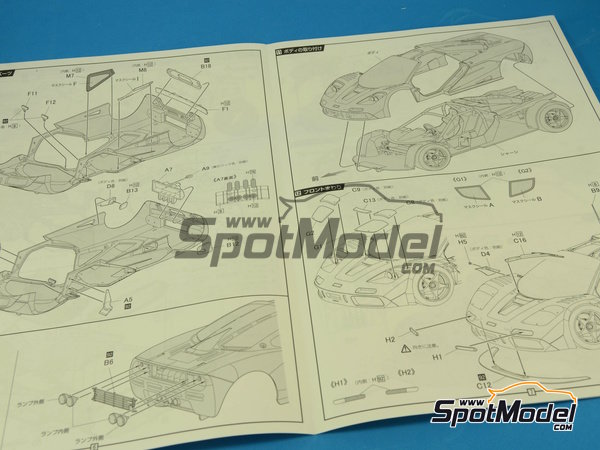 Image 11: McLaren F1 GTR Short Tail Gulf - 24 Hours Le Mans 1995   Model car kit in 1/24 scale manufactured by Fujimi (ref.FJ125992, also 125992)