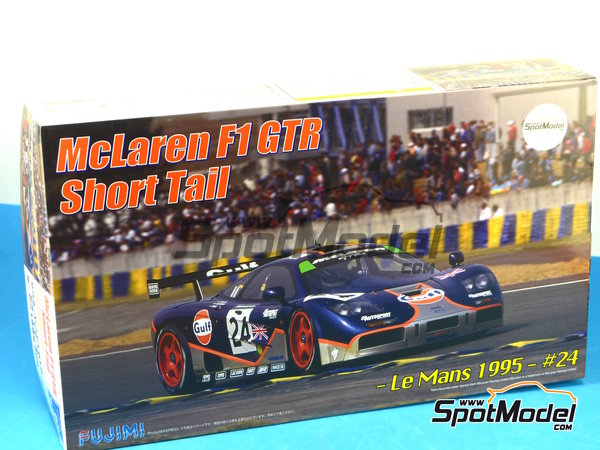 Image 20: McLaren F1 GTR Short Tail Gulf - 24 Hours Le Mans 1995   Model car kit in 1/24 scale manufactured by Fujimi (ref.FJ125992, also 125992)