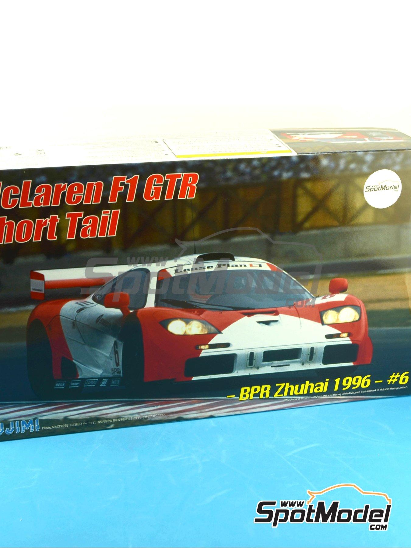 McLaren F1 GTR Short Tail Marlboro - BPR Zhuhai 1996 | Maqueta de coche en escala1/24 fabricado por Fujimi (ref.FJ126012) image