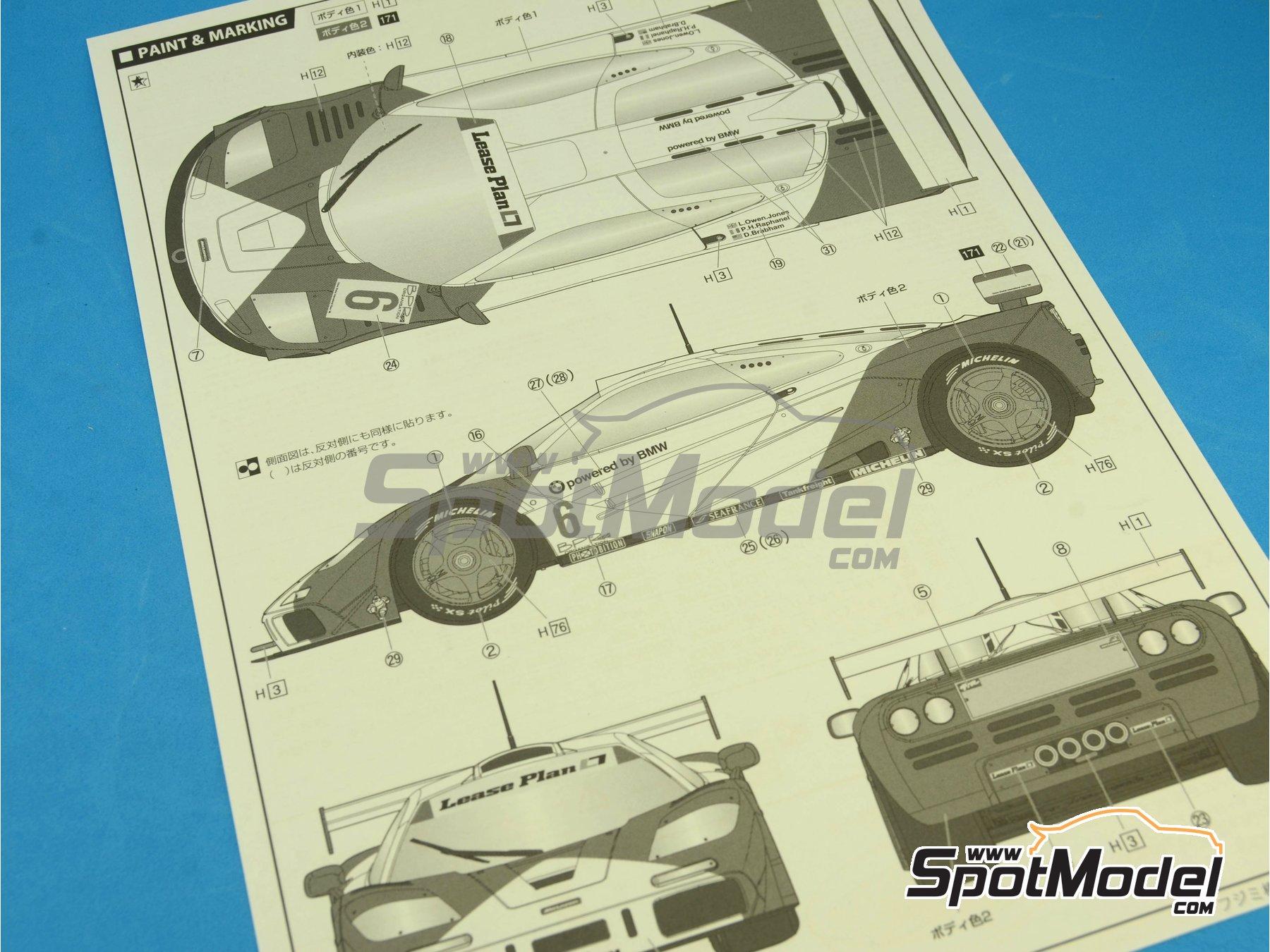 Image 3: McLaren F1 GTR Short Tail Marlboro - BPR Zhuhai 1996 | Maqueta de coche en escala1/24 fabricado por Fujimi (ref.FJ126012)