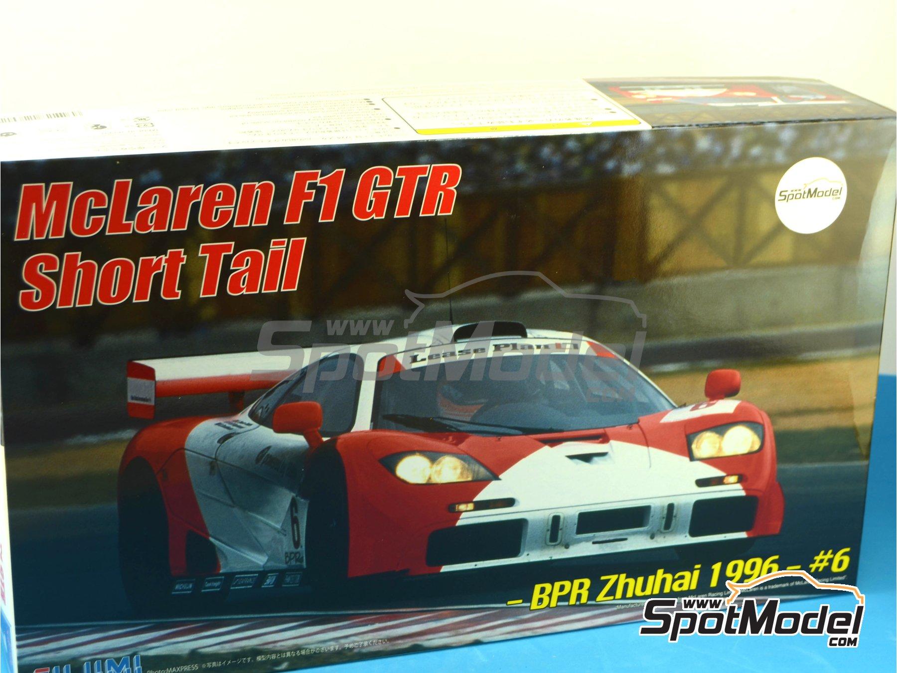 Image 22: McLaren F1 GTR Short Tail Marlboro - BPR Zhuhai 1996 | Maqueta de coche en escala1/24 fabricado por Fujimi (ref.FJ126012)