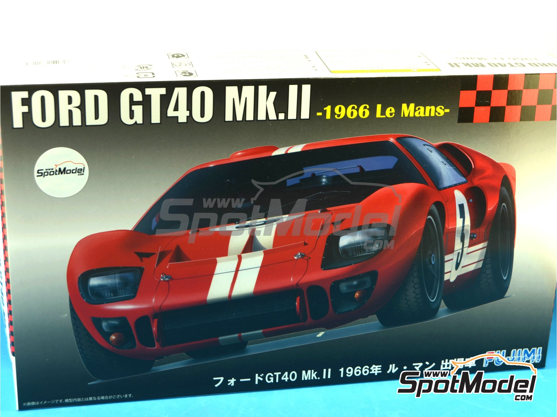 Image 14: Ford GT40 Mk II - 24 Hours Le Mans 1966 | Model car kit in 1/24 scale manufactured by Fujimi (ref.FJ126067, also 126067 and RS-51)