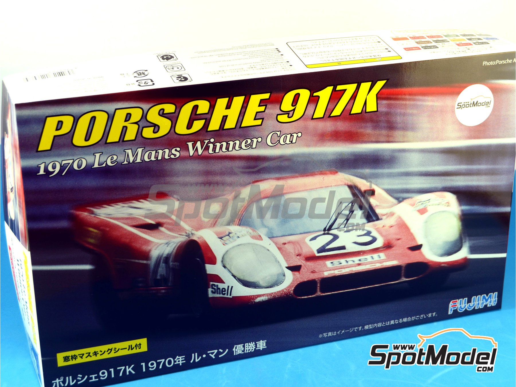 Image 1: Porsche 917K Shell - 24 Hours Le Mans 1970 | Model car kit in 1/24 scale manufactured by Fujimi (ref. FJ126074)