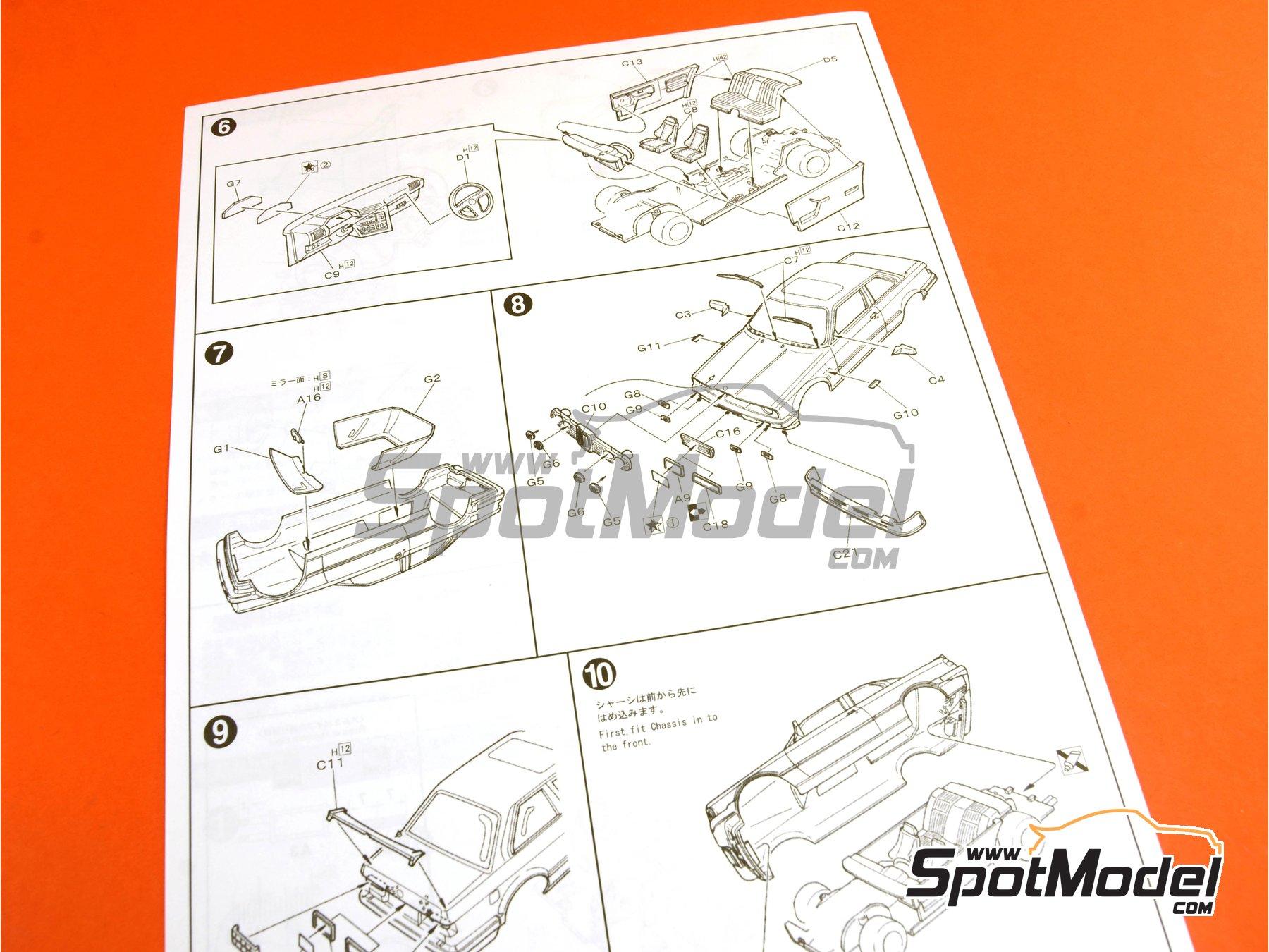 Image 7: BMW 325i | Maqueta de coche en escala1/24 fabricado por Fujimi (ref.FJ126104, tambien 12610, 126104 y RS-21)