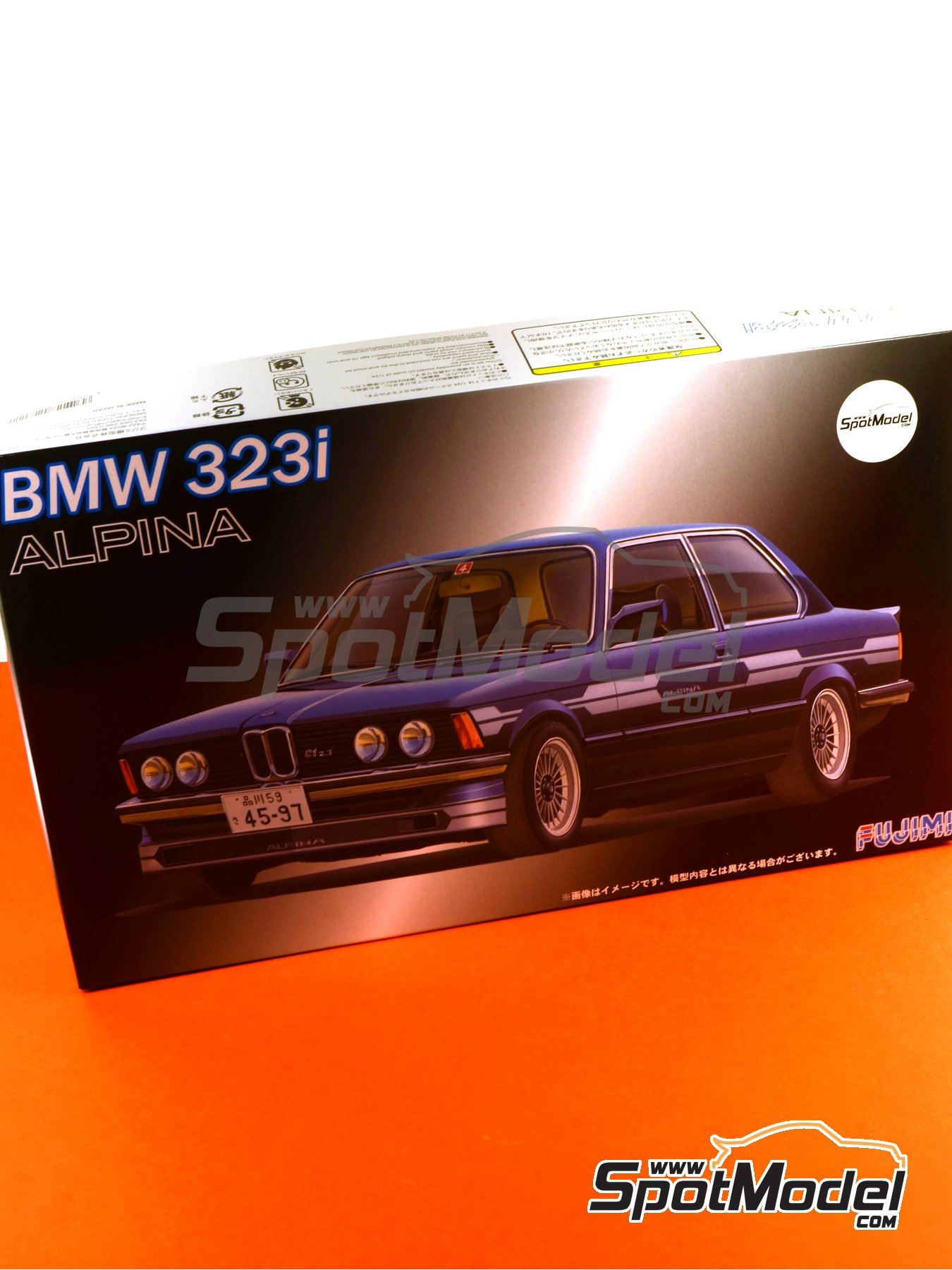 BMW 323i Alpina C1-2.3 | Model car kit in 1/24 scale manufactured by Fujimi (ref.FJ126111, also 12611, 126111 and RS-9) image
