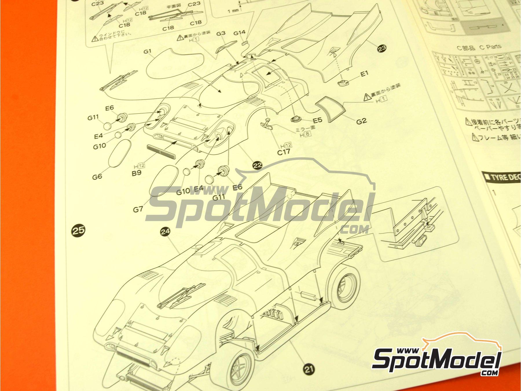 Image 11: Porsche 917K Martini - 24 Hours Le Mans 1971 | Model car kit in 1/24 scale manufactured by Fujimi (ref.FJ126142)