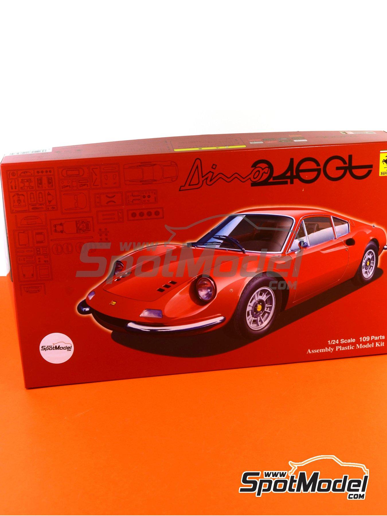 Ferrari Dino 246GT | Maqueta de coche en escala1/24 fabricado por Fujimi (ref.FJ126234, tambien 126234, 12623 y RS-101) image