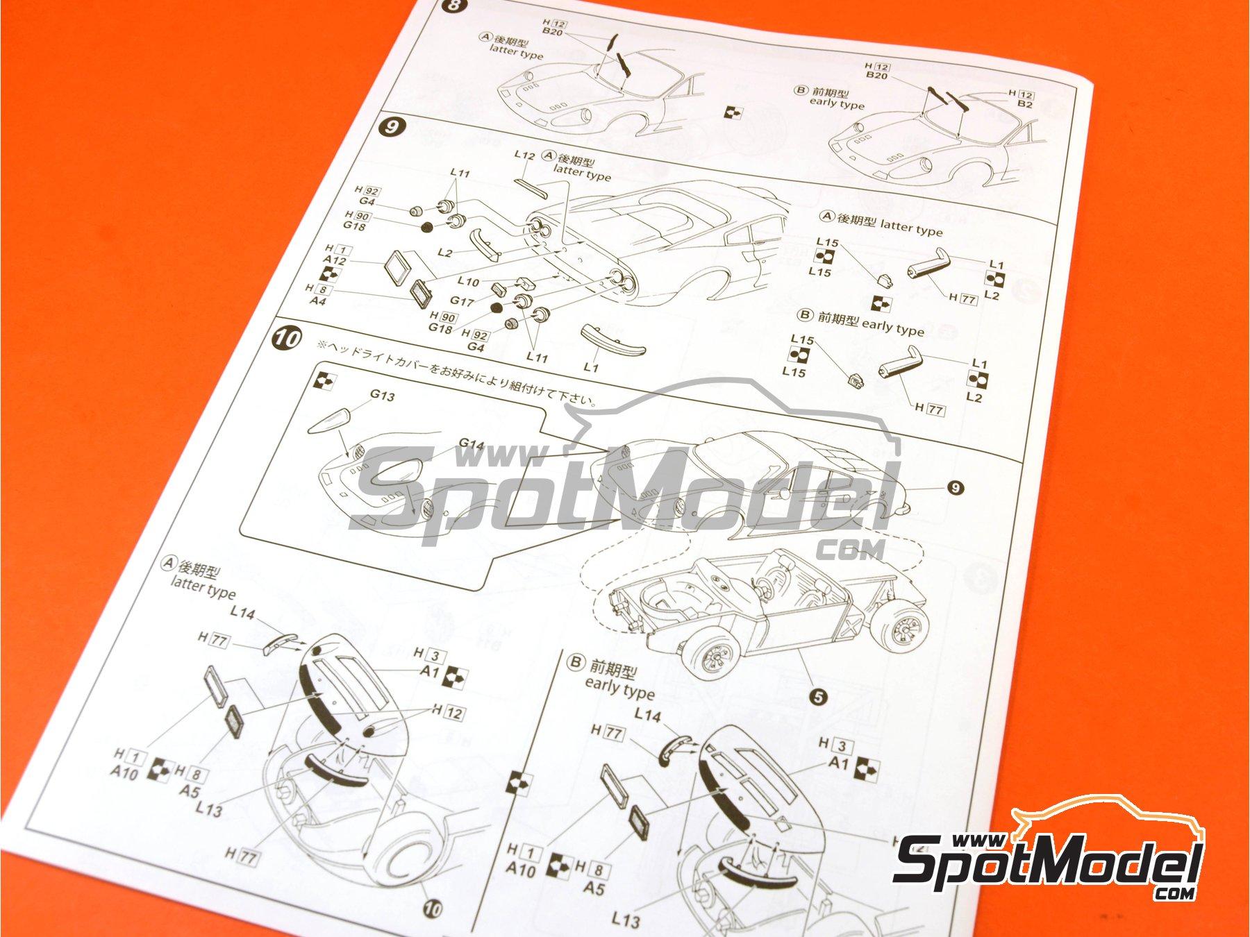 Image 13: Ferrari Dino 246GT | Maqueta de coche en escala1/24 fabricado por Fujimi (ref.FJ126234, tambien 126234, 12623 y RS-101)