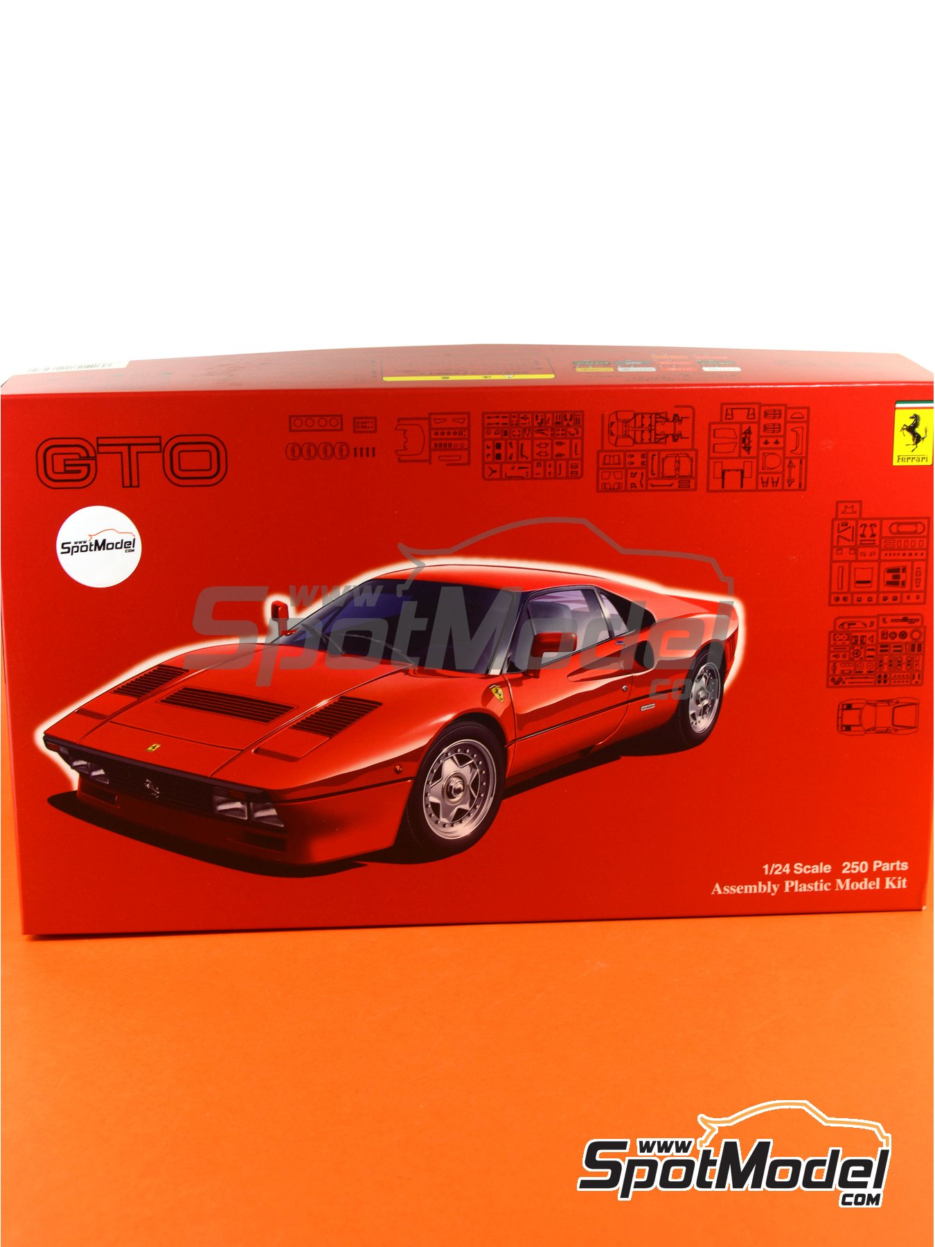 Ferrari 288 GTO | Model car kit in 1/24 scale manufactured by Fujimi (ref. FJ126272, also 126272, 12627 and RS-105) image