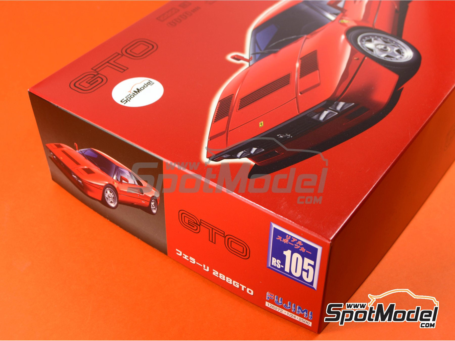 Image 16: Ferrari 288 GTO | Model car kit in 1/24 scale manufactured by Fujimi (ref. FJ126272, also 126272, 12627 and RS-105)