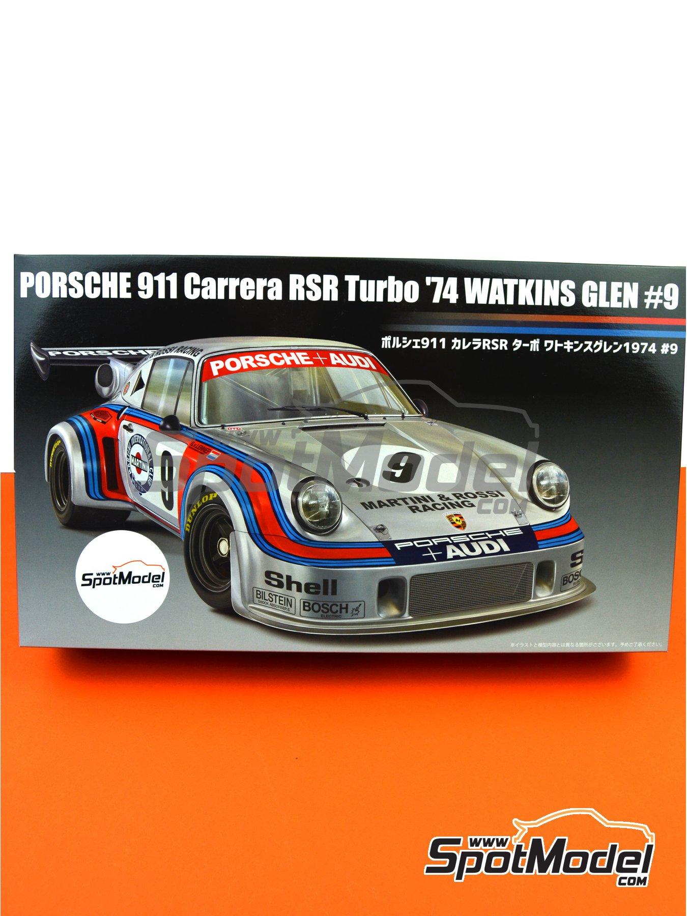 Porsche 911 Carrera RSR Turbo Martini Rossi Porsche Audi - 6 horas de Watkins Glen 1974 | Maqueta de coche en escala1/24 fabricado por Fujimi (ref.FJ126494, tambien 126494 y RS-99) image