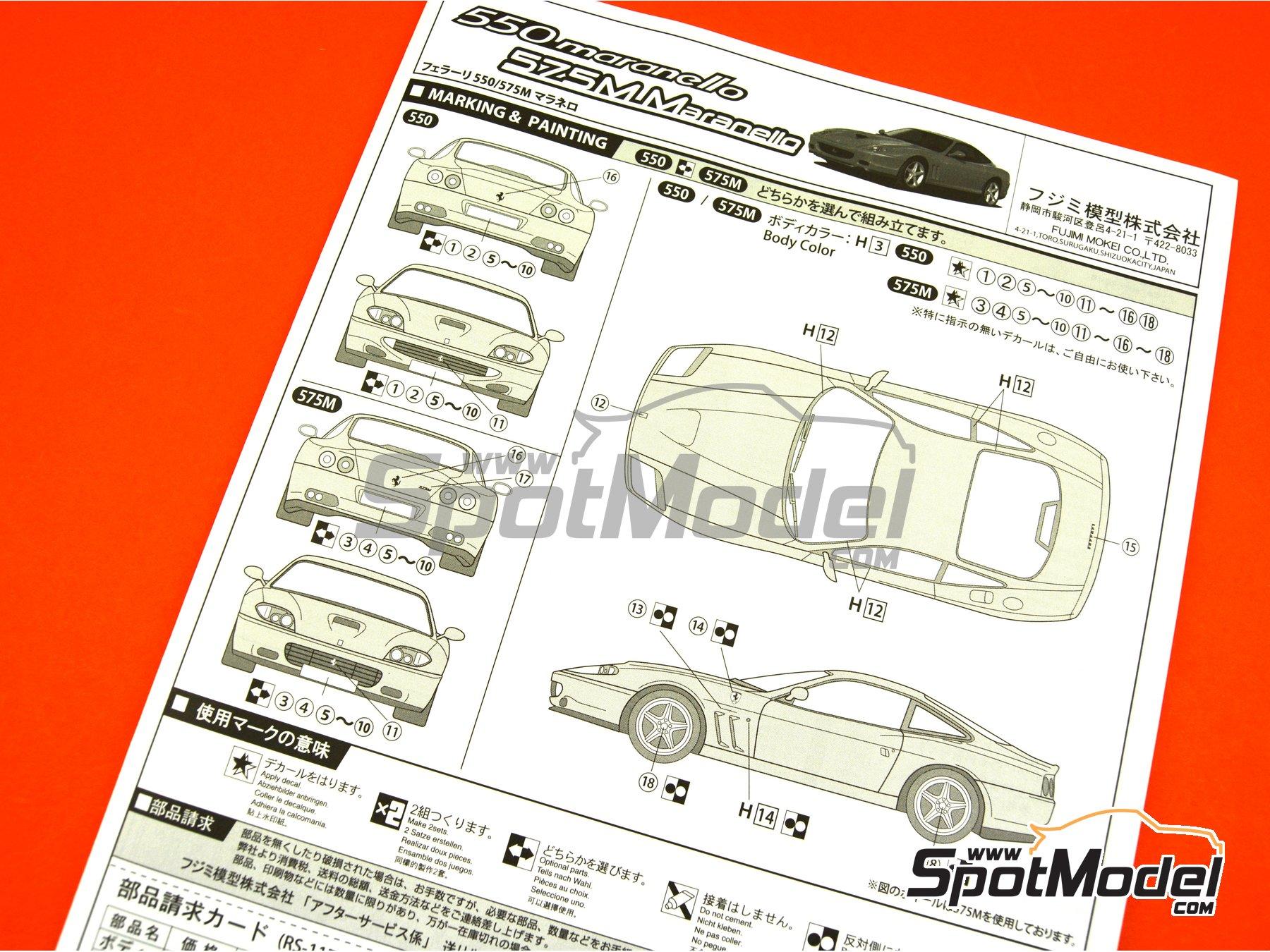 Image 12: Ferrari 575M / 550 Maranello | Maqueta de coche en escala1/24 fabricado por Fujimi (ref.FJ126531, tambien 126531 y RS-117)