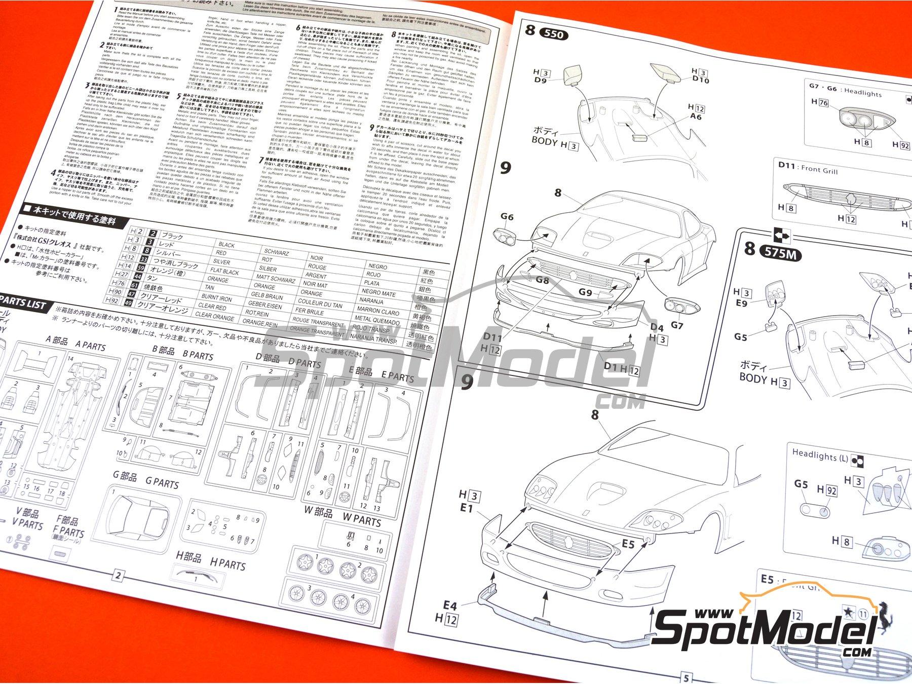 Image 14: Ferrari 575M / 550 Maranello | Maqueta de coche en escala1/24 fabricado por Fujimi (ref.FJ126531, tambien 126531 y RS-117)