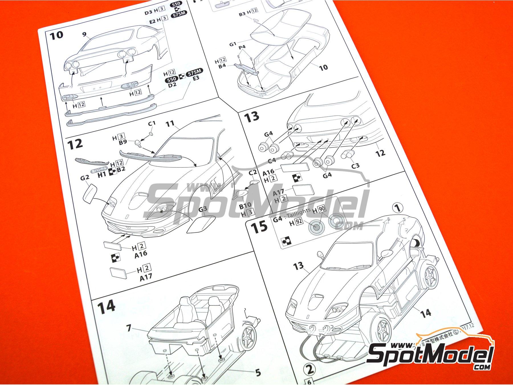 Image 15: Ferrari 575M / 550 Maranello | Maqueta de coche en escala1/24 fabricado por Fujimi (ref.FJ126531, tambien 126531 y RS-117)