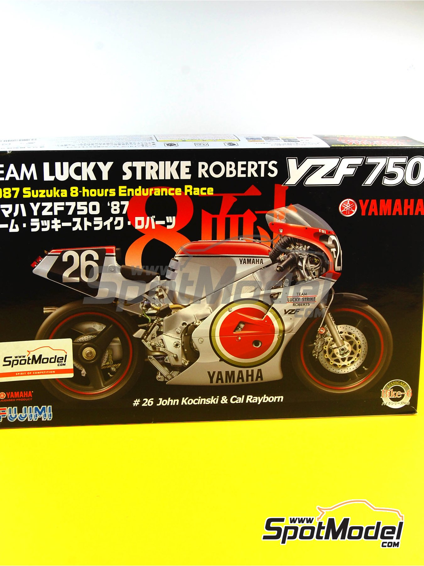 Yamaha YZF 750 Lucky Strike - 8 Hours Suzuka Endurance Race 1987 | Model bike kit in 1/12 scale manufactured by Fujimi (ref.FJ141367, also 141367 and 14136) image