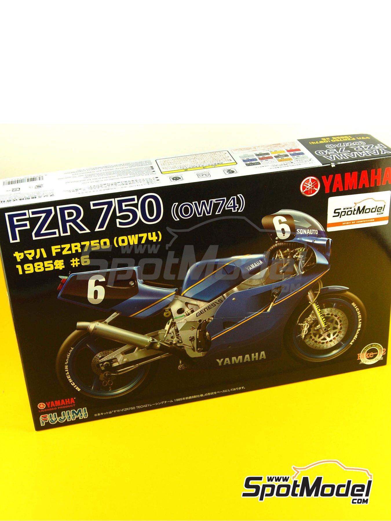 Yamaha FZR750 OW74 Sonauto -  1985   Maqueta de moto en escala1/12 fabricado por Fujimi (ref.FJ141428, tambien 141428 y 14142) image