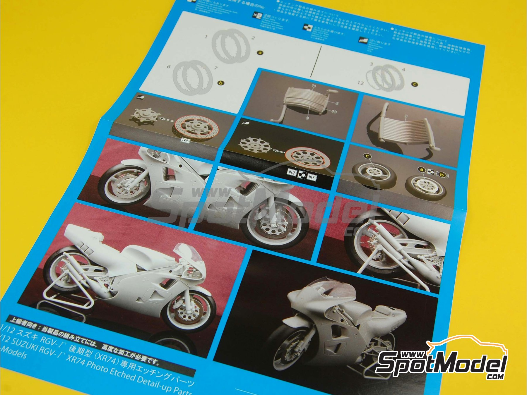 Image 11: Suzuki RGV-G XR74 Pepsi - Motorcycle World Championship 1988 | Model bike kit in 1/12 scale manufactured by Fujimi (ref.FJ141435, also 141435 and 14143)