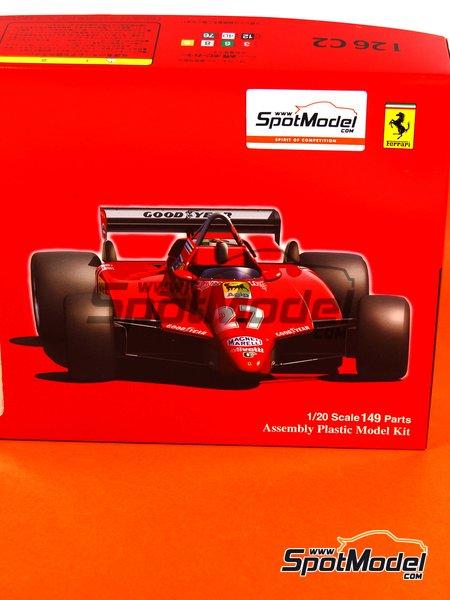 Ferrari 126C2 Agip - San Marino Formula 1 Grand Prix 1982 | Model car kit in 1/20 scale manufactured by Fujimi (ref.FJ960098, also GP-1, FJ96009 and 960098) image