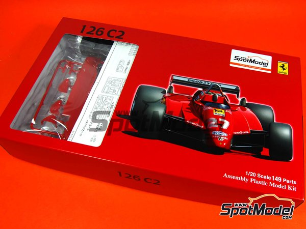 Image 1: Ferrari 126C2 Agip - San Marino Formula 1 Grand Prix 1982 | Model car kit in 1/20 scale manufactured by Fujimi (ref.FJ960098, also GP-1, FJ96009 and 960098)