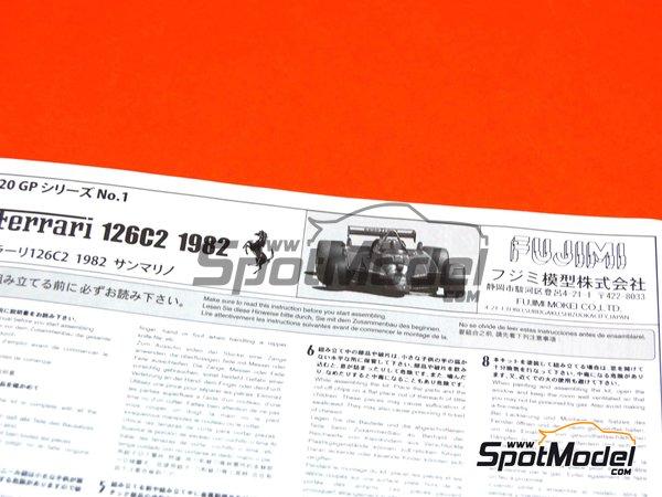 Image 2: Ferrari 126C2 Agip - San Marino Formula 1 Grand Prix 1982 | Model car kit in 1/20 scale manufactured by Fujimi (ref.FJ960098, also GP-1, FJ96009 and 960098)