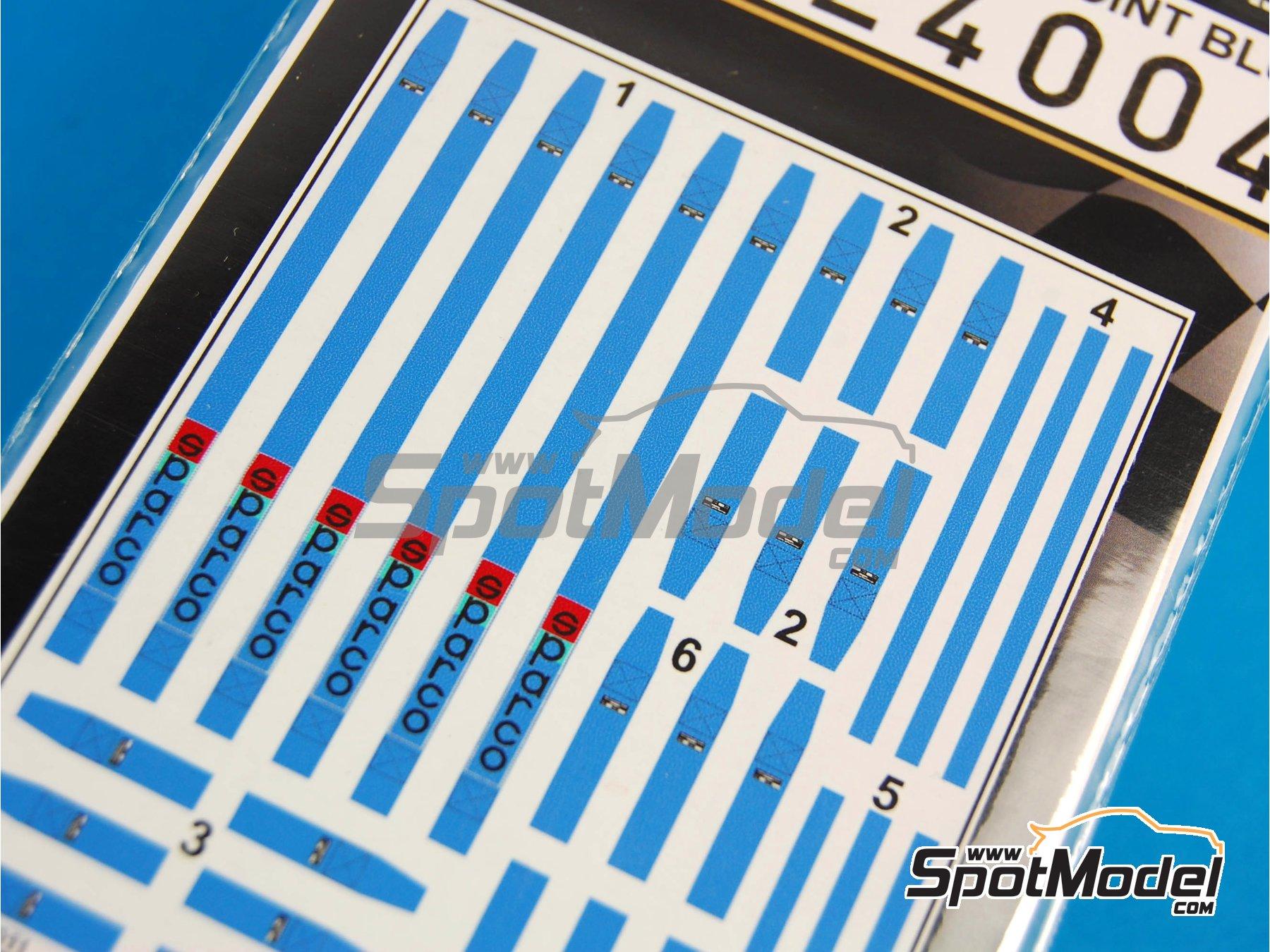 Image 4: Juego de arnes de 6 puntos Sparco - Color azul | Cinturones en escala1/24 fabricado por HGW (ref.124004)