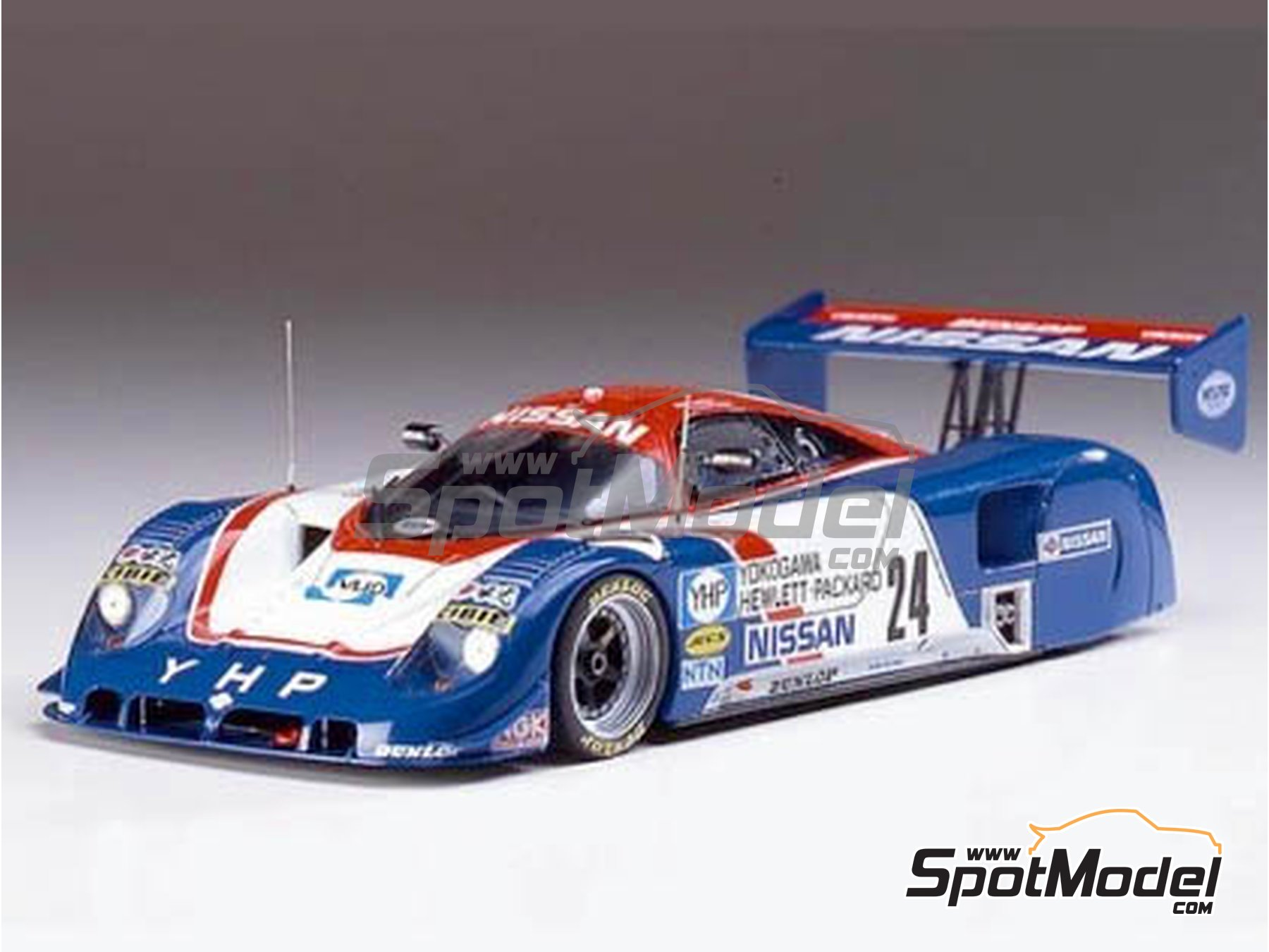 Image 1: Nissan R89C Yokogawa Hewlett Packard - Japan Sport Prototype Endurance Championship - JSPC 1989 | Model car kit in 1/24 scale manufactured by Hasegawa (ref.20244)