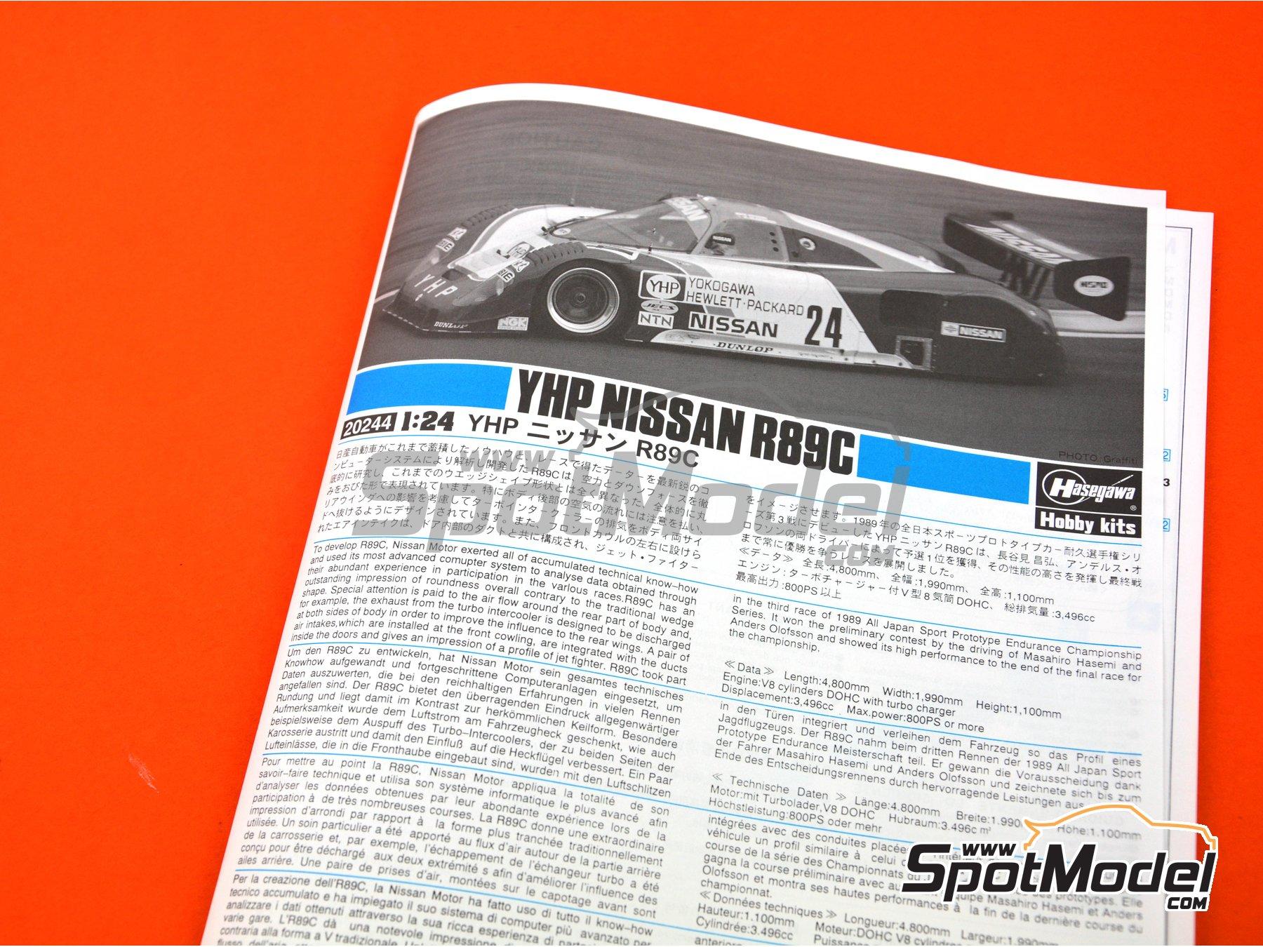 Image 8: Nissan R89C - Campeonato Japonés de Spot Prototipos - JSPC 1989 | Maqueta de coche en escala1/24 fabricado por Hasegawa (ref.20244)