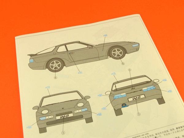 Image 10: Porsche 968 | Maqueta de coche en escala1/24 fabricado por Hasegawa (ref.20259)