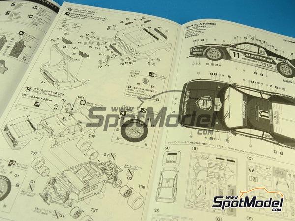 Image 3: Lancia 037 Rally Chardonnet - Rally Tour de Corse 1984   Maqueta de coche en escala1/24 fabricado por Hasegawa (ref.20264)
