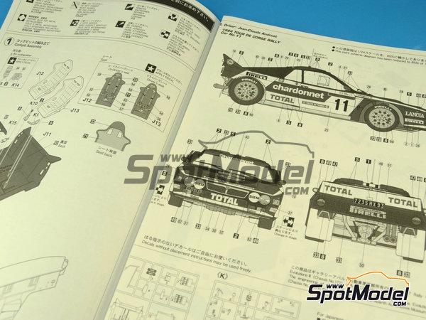 Image 4: Lancia 037 Rally Chardonnet - Rally Tour de Corse 1984   Maqueta de coche en escala1/24 fabricado por Hasegawa (ref.20264)