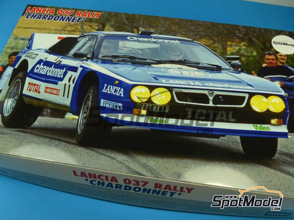 Image 12: Lancia 037 Rally Chardonnet - Tour de Corse 1984 | Model car kit in 1/24 scale manufactured by Hasegawa (ref.20264)