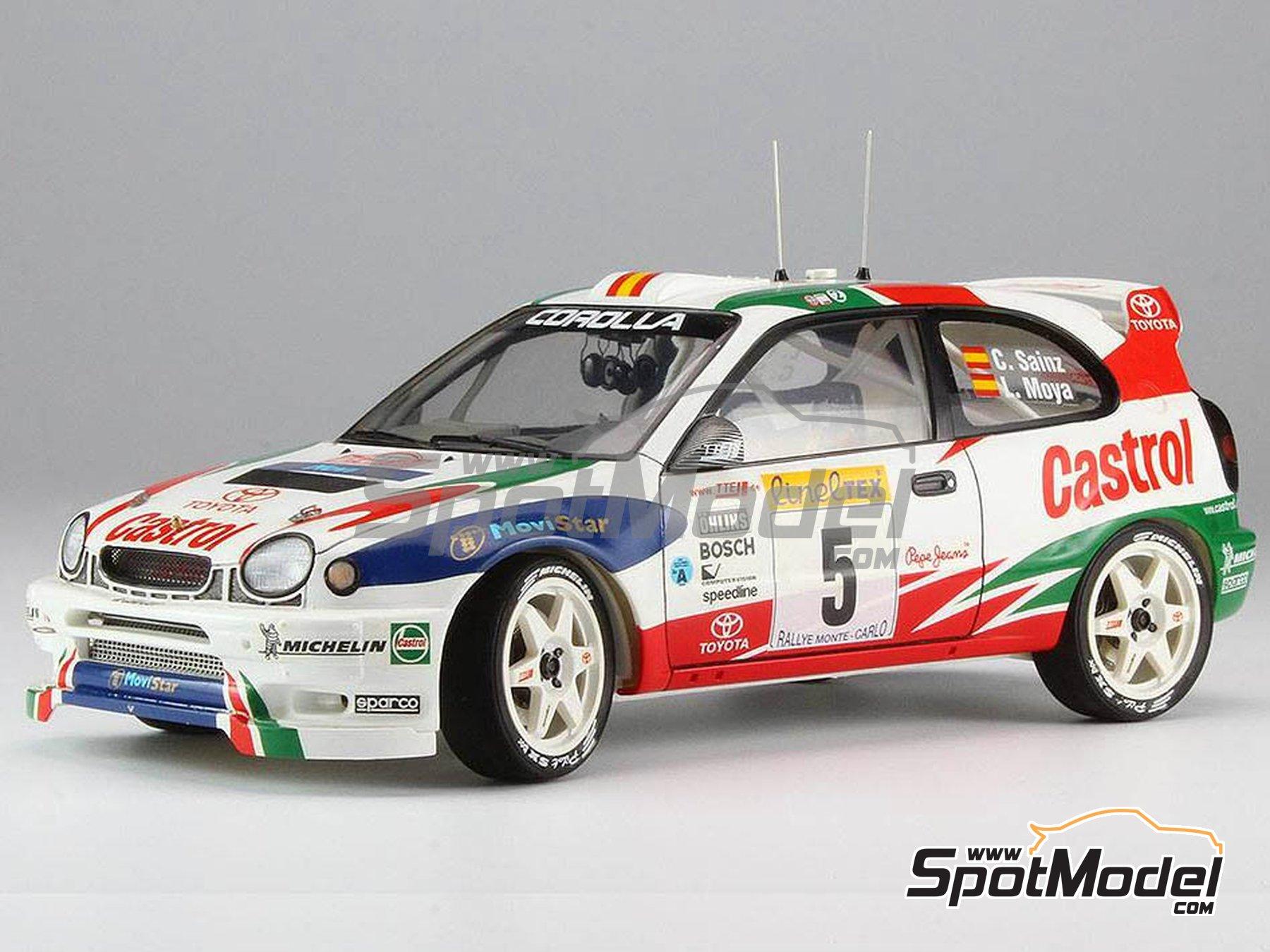 Image 2: Toyota Corolla WRC Castrol Movistar - Rally de Montecarlo 1998 | Maqueta de coche en escala1/24 fabricado por Hasegawa (ref.20266)