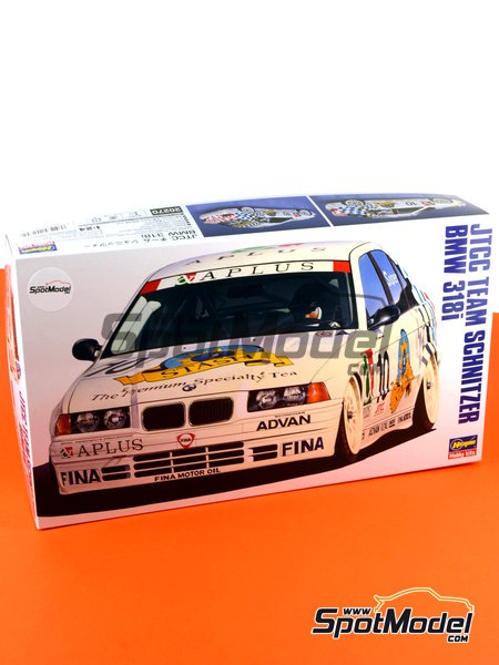 BMW 318i Team Schnitzer - Japan Touring Car Championship (JTCC) 1994 | Model car kit in 1/24 scale manufactured by Hasegawa (ref.20270) image