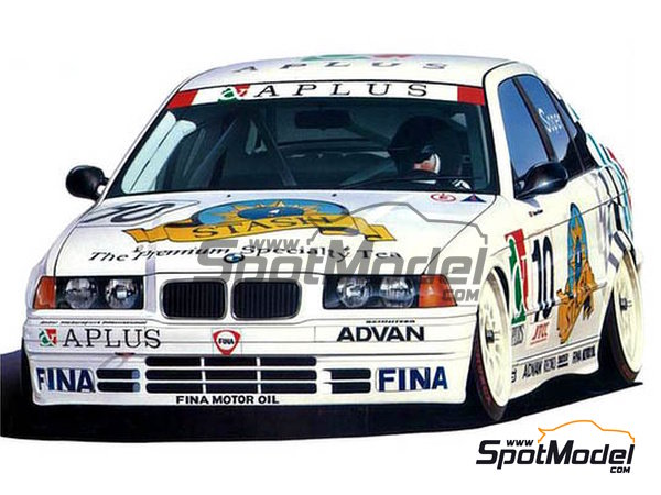 Image 1: BMW 318i Team Schnitzer - Japan Touring Car Championship (JTCC) 1994 | Model car kit in 1/24 scale manufactured by Hasegawa (ref.20270)
