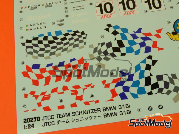 Image 7: BMW 318i Team Schnitzer - Japan Touring Car Championship (JTCC) 1994 | Model car kit in 1/24 scale manufactured by Hasegawa (ref.20270)
