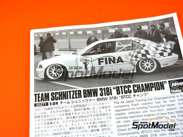 Image 9: BMW 318i - British Touring Car Championship - BTCC 1994 | Model car kit in 1/24 scale manufactured by Hasegawa (ref. 20271)