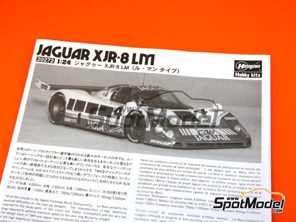 Image 7: Jaguar XJR-8 LM -  1987 | Model car kit in 1/24 scale manufactured by Hasegawa (ref. 20272)