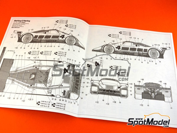 Image 8: Jaguar XJR-8 LM -  1987 | Model car kit in 1/24 scale manufactured by Hasegawa (ref. 20272)