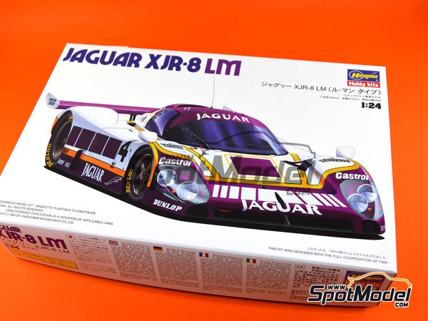 Image 9: Jaguar XJR-8 LM -  1987 | Model car kit in 1/24 scale manufactured by Hasegawa (ref. 20272)