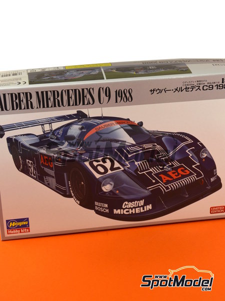 Sauber Mercedes C9 AEG - 24 Hours Le Mans 1988 | Model car kit in 1/24 scale manufactured by Hasegawa (ref. 20273) image